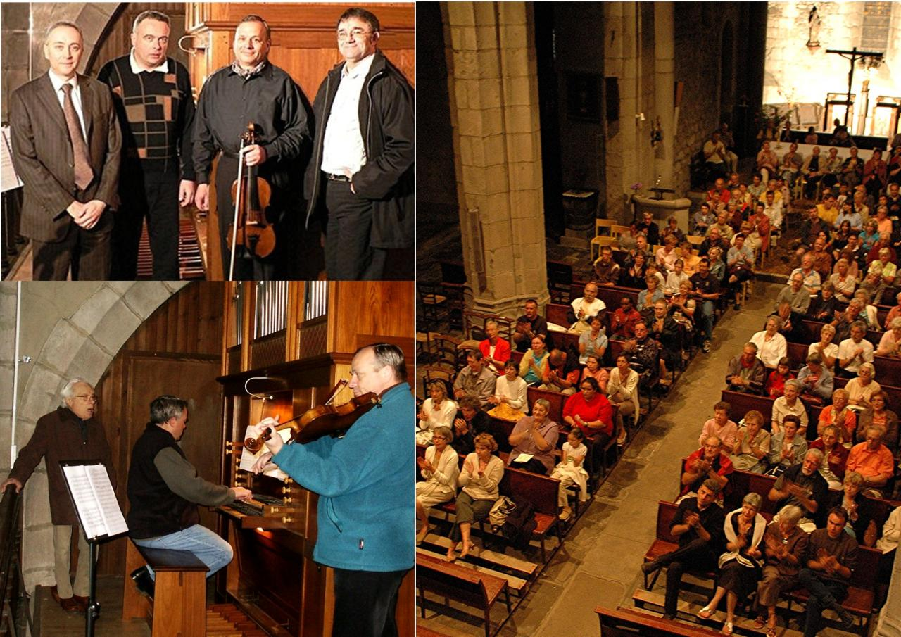avril 2006:  Violon, violon alto, chant et orgue
