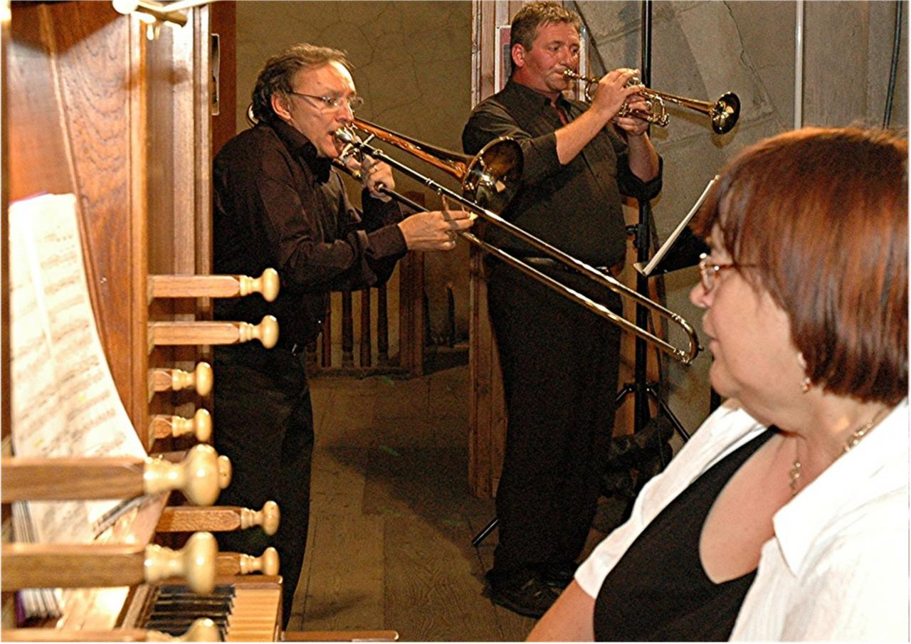 août 2006: Trompette, trombone et orgue