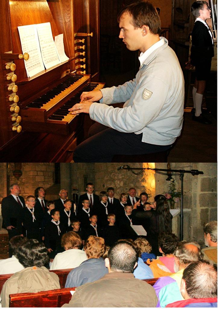 juillet 2007: Choeur d'enfants et  orgue