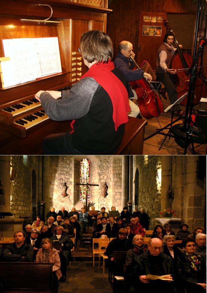 avril 2008 :Violoncelle, contrebasse et orgue
