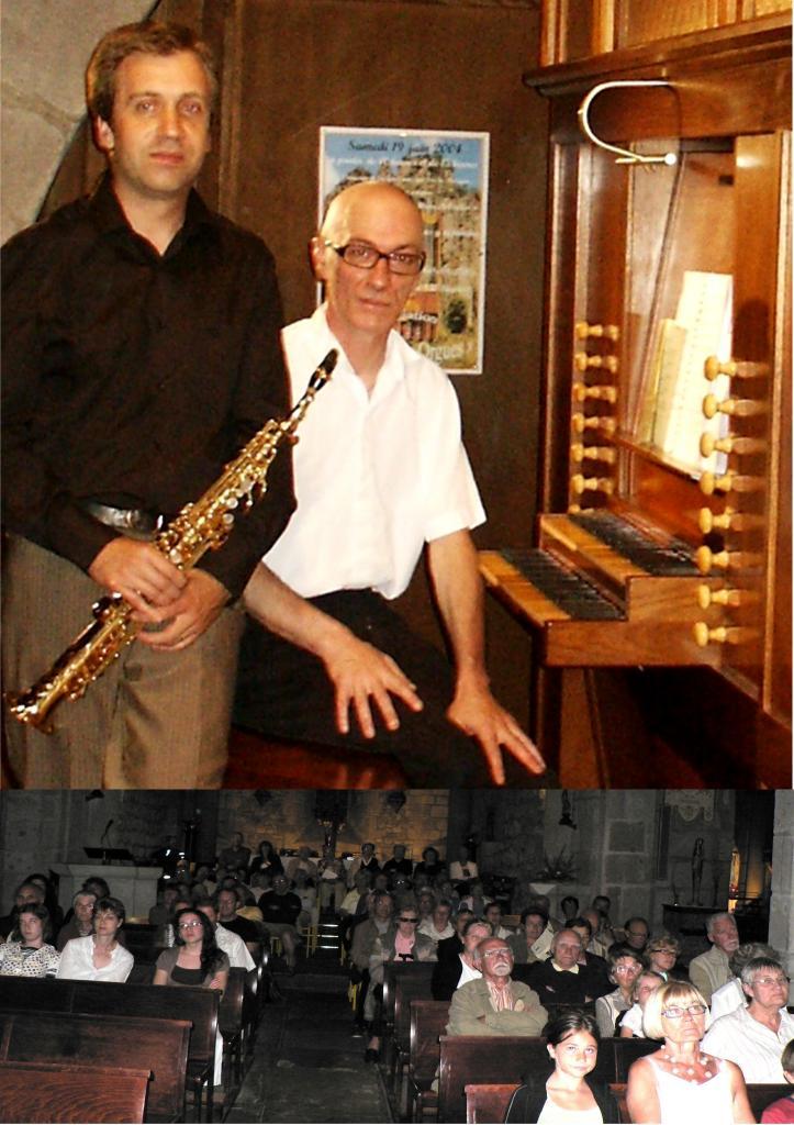 Juillet 2008: Saxophone soprano et orgue
