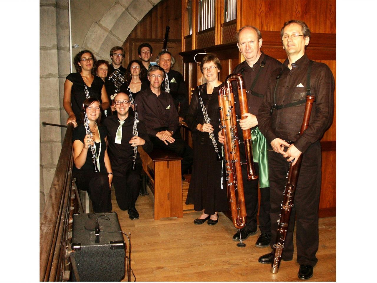 août 2009: bande de hautbois et orgue