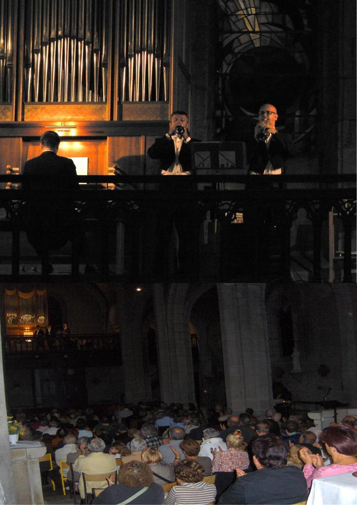 juillet 2010: Deux trompettes et orgue