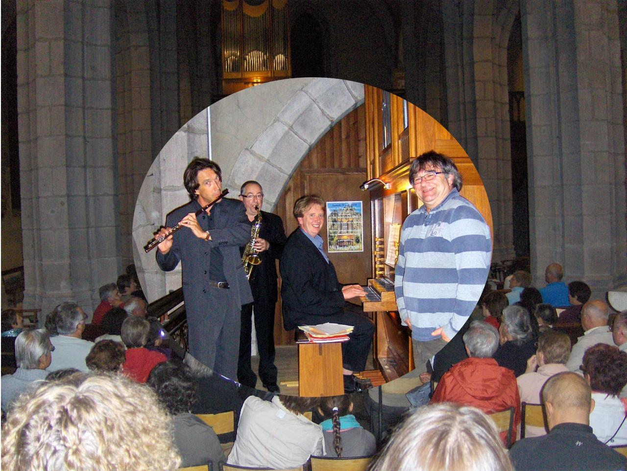 juillet 2012: Flûtes, saxophones et orgue