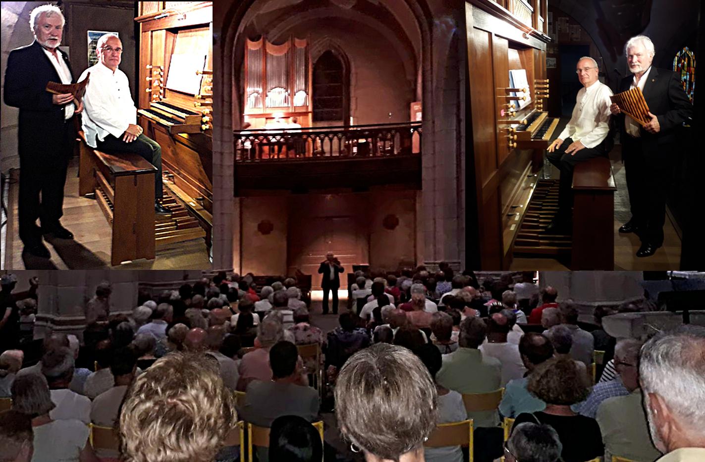 août 2019: Flûte de Pan et orgue