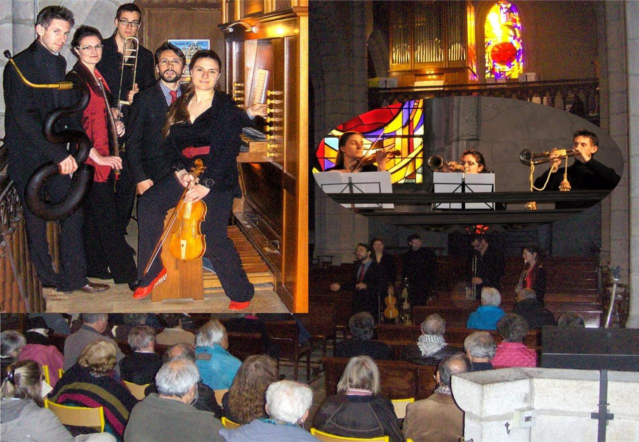 mai 2014:Cornet à bouquin,Serpent,Sacqueboute,Trompettes,Violon,Orgue