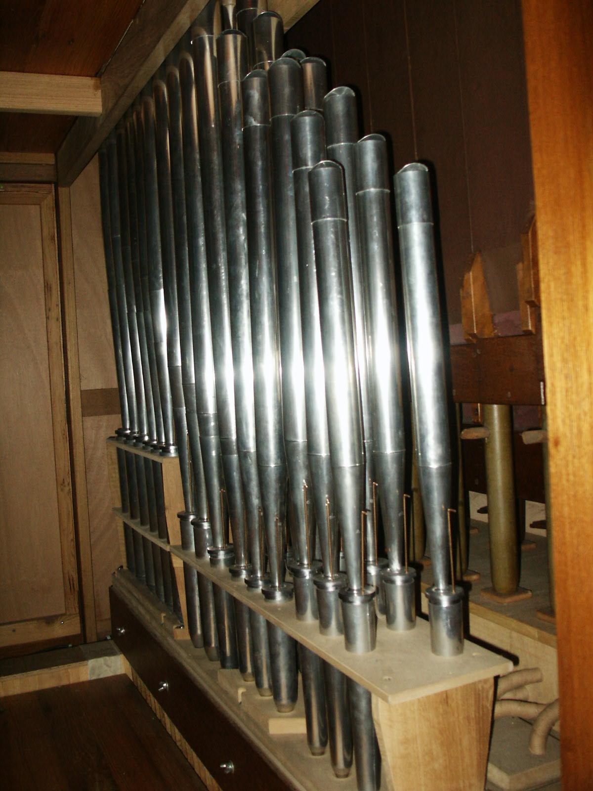 Les tuyaux d'anche d'un orgue:
